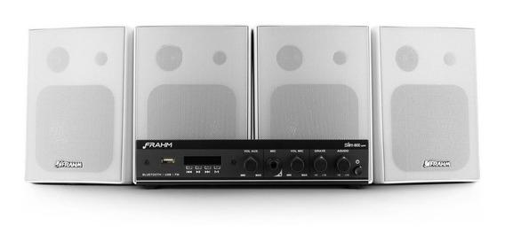 Kit Frahm Sonorização App Amplificador Com 4 Caixas Com Sup.