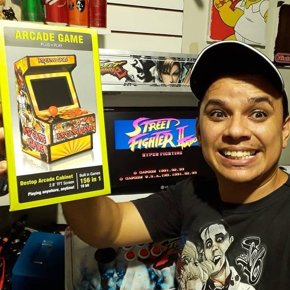 Mini Arcade Fliperama De Dedo 16bits 156games Frete Grátis