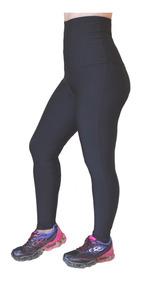 Calça Legging Cintura Alta Modeladora Sem Pezinho Fitness