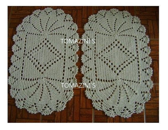 Tapetes Oval De Crochê Com 8 Unidades Coloridos Sortidos