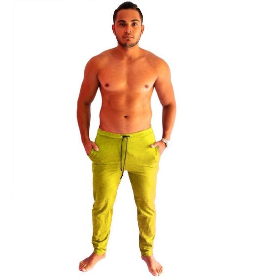 Calça De Moleton Masculina Saruel Skinny Sport Luxo Treino