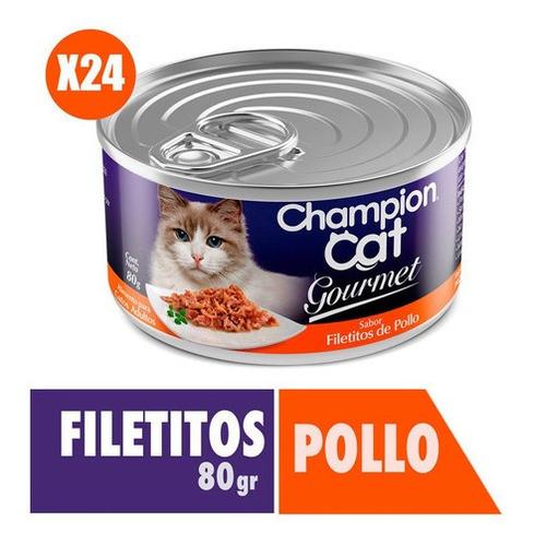 Champion Cat Gourmet Sabor Pollo 24x80g