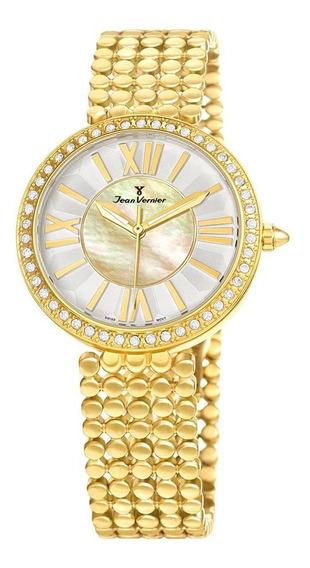 Relógio Pulso Jean Vernier Elegante Feminino Jv01320