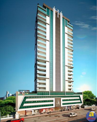 Imagem 1 de 21 de Apartamento 3 Suítes 2 Vagas De Garagem Na Meia Praia Em Itapema/sc - Imobiliária África - Ap00385 - 69682006