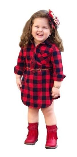 Vestido Xadrez Infantil / Camisa Feminina