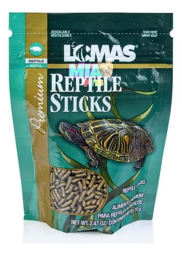 Imagen 1 de 6 de Alimento Tortugas Reptiles En Palitos Reptile Sticks 70g