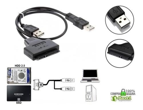 Cable Adaptador Usb A Sata Disco Duro Laptop Como Externo