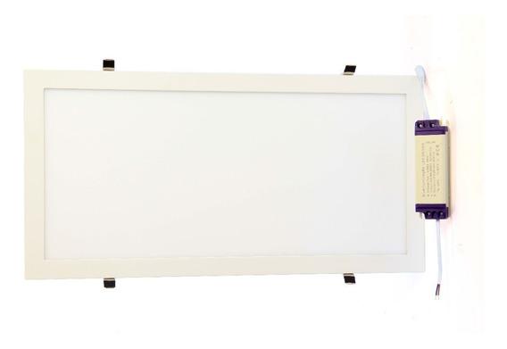 Kit 04 Luminárias Plafon Led 30x60 36w Embutir Branco Quente