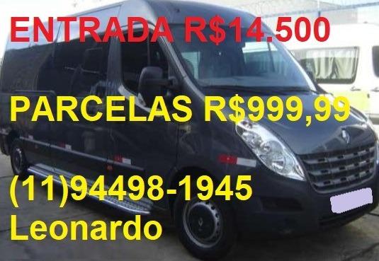 Renault Master L3h2 Van Executiva 2015 16 Lugares Teto Alto