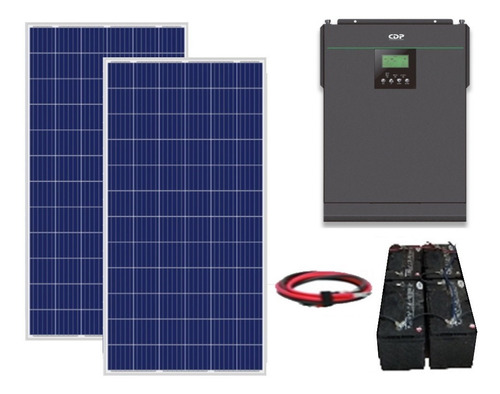 Imagen 1 de 8 de Kit Panel Solar Autonomo Isla 2000wh Diarios