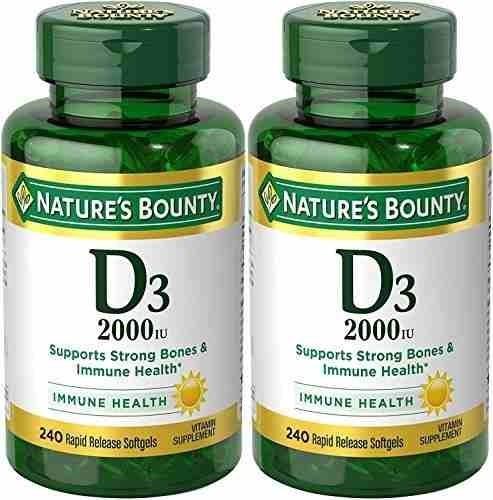 Natures Bounty Vitamina D3 2000 Iu 480 Capsulas Blandas 2 X