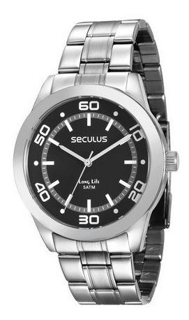 Relógio Seculus Prateado Masculino Long Life 28855g0svna1