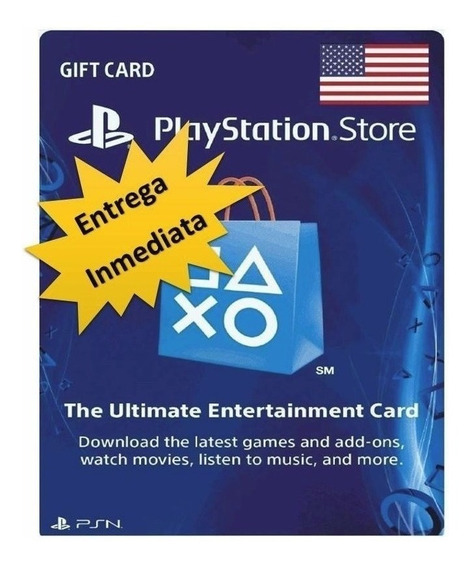 Playstation Network Card Psn Ps3 / Ps4 $10 Usd Dolares