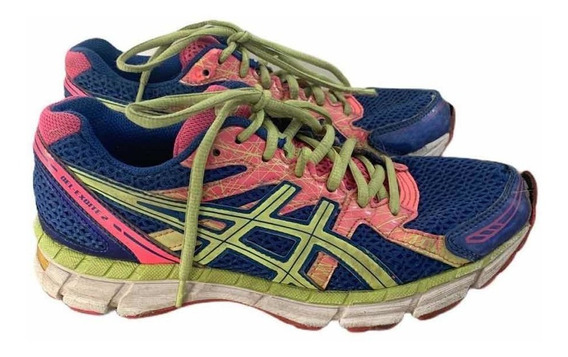 Zapatillas Asics Colores Fluo Talle 37 Usadas