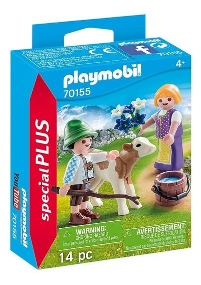 Playmobil 70155 Crianças Com Bezerro Special Plus Geobra