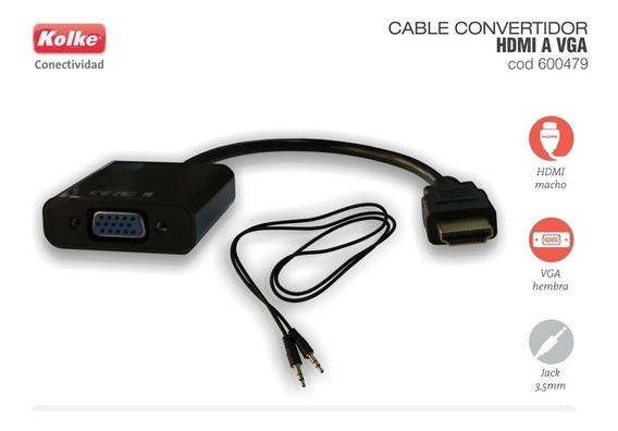 Cable Adaptador Hdmi A Vga Con Audio