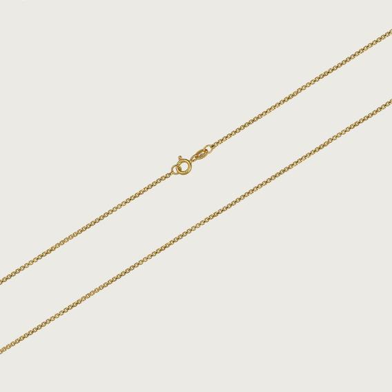 Cordão De Ouro 18k Feminino Veneziano Com 45cm - 3,2gr