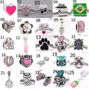 15 Berloques (peças) Pingentes P/ Pulseira Tipo Pandora