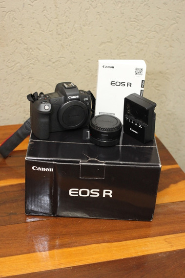 (nova) Câmera Canon Eos R (corpo) Full Frame + Adaptador Ef-eos R