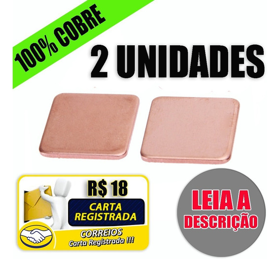 Dissipador Placa De Cobre Chapa Gpu Bga Thermal Pad Notebook
