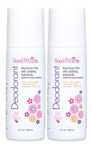 Paquete De 2 Good For You Girls Desodorante Natural Sin Alum