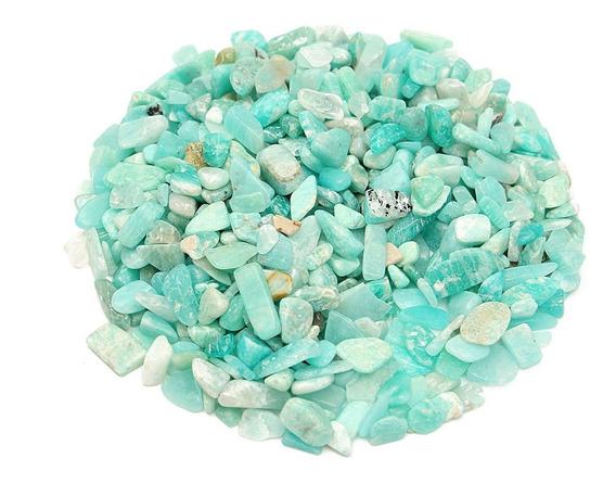 Us 50g 4-6mm Natural Amazonita Piedras Minerales Especímenes