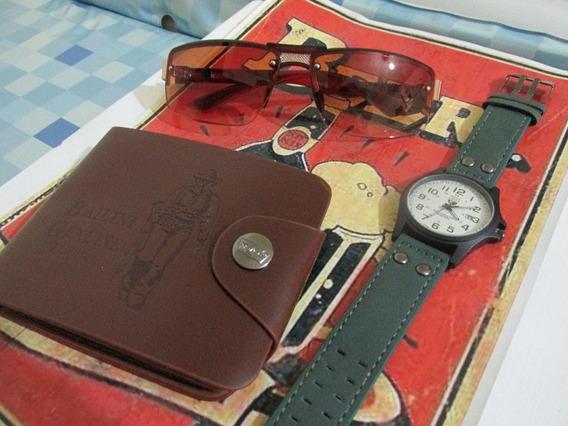 Kit For Men Relógio Soki + Carteira + Óculos De Sol