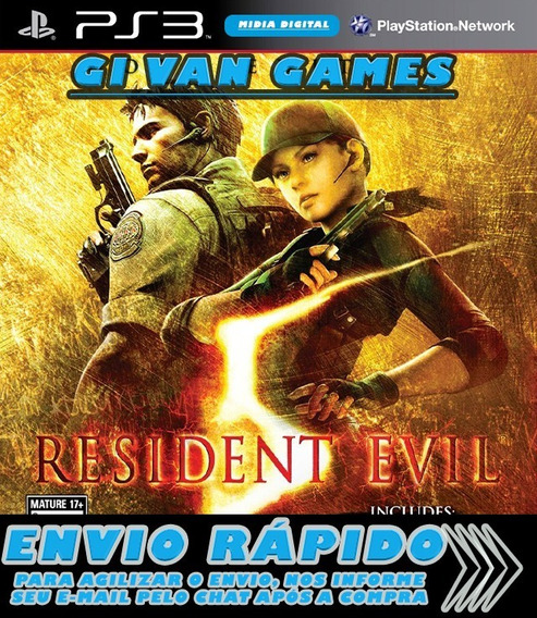 Resident Evil 5 Gold Re5 Ps3 Psn Digital Envio Muito Rápido