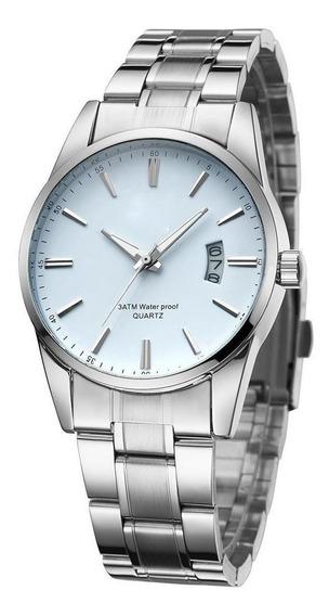Moda Homens Relógio De Quartzo Liga Relógio De Pulso De Aço