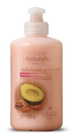 Crema De Peinar Hidratante Almendra Y Aguacate Avon Naturals