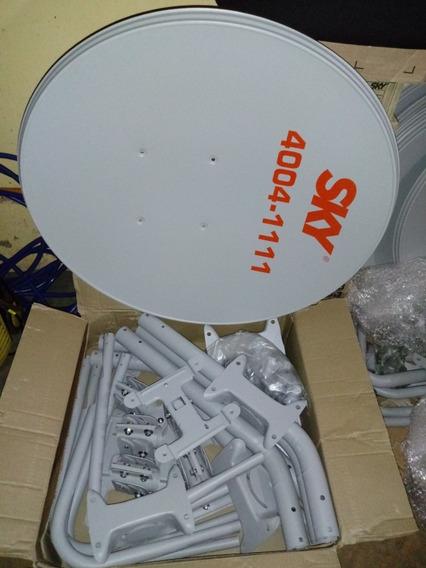 Antena Ku 60cm Logo Sky Completa