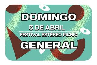 Boleta General Día Domingo Festival Estéreo Picnic 2020