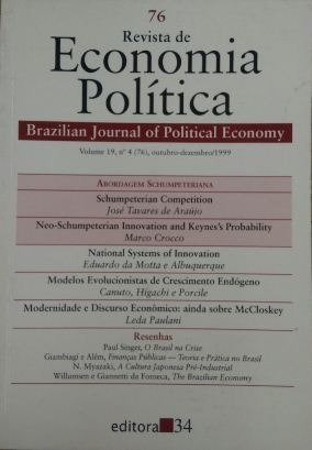 Revista De Economia Política Vol. 19 Nº4 José Tavares / Edu