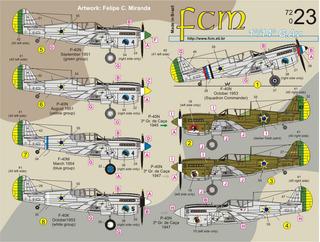 Decal Fcm 72023 Avião Curtiss P-40 Fab 1/72 Plastimodelismo