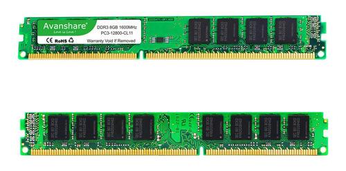 Imagem 1 de 4 de Memória Ram 8gb Ddr3 1600mhz