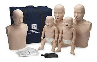 Maniquies Rcp 2 Adultos 1 Niño 2 Bebes Monitor Pp-fm Prestan