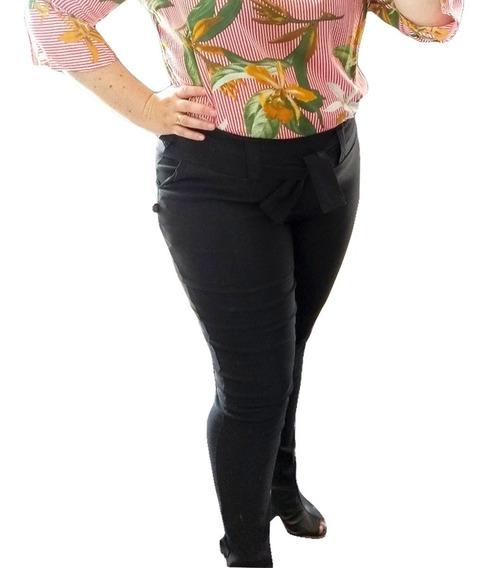 Calça Plus Size Clochard Feminina Blogueira Com Laço