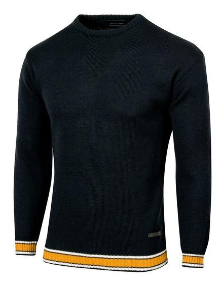 Sweater District, Liso, De Cuello Redondo, Vintage, Hombre