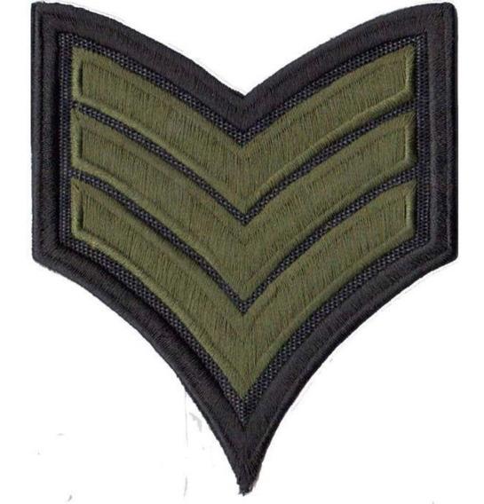 Patch Bordado Tarja - Rank Militar 3º Sargento Us Army-1