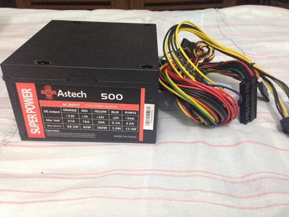 Fonte Atx Astech 500w Pc