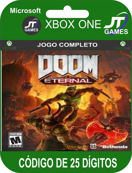 Doom Eternal Standard Edition Xbox One Código 25 Dígitos