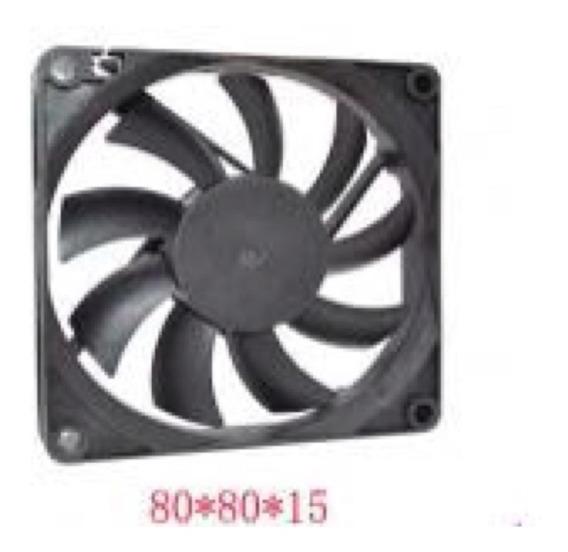 Micro Ventilador 8 X 8 X 1.5cm Fan Cooler 12v 80mm 8cm Slim
