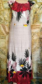 Lindo Vestido Longo Tucano Plus Size Cristão Gospel
