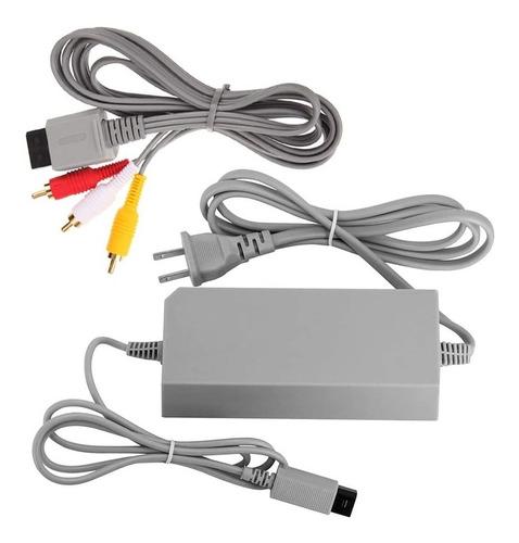 Imagen 1 de 1 de Wii Fuente De Poder + Cable De Audio Y Video Seminuevos