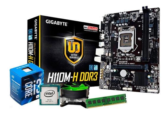 Kit Placa H110 Gigabyte + Core I3 6100 + 8gb Promoção + Nf