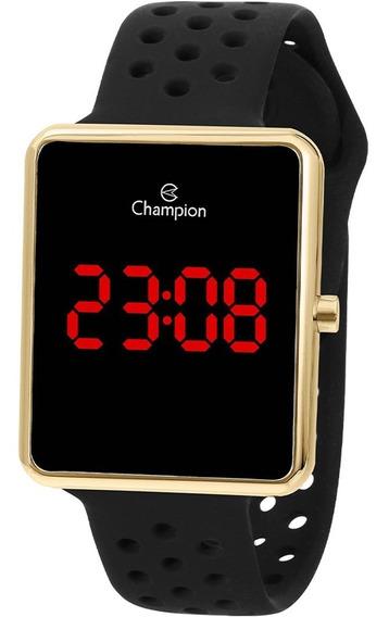 Relógio Champion Feminino Digital Dourado E Preto Ch40081v