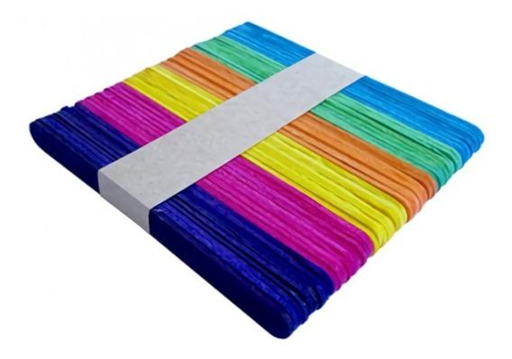 Palitos De Helado De Color Pack X 50 Unidades