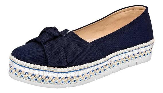 Zapato Casual Moño Dama Sexy Girl 823 Azul 22-26 087-477 T4