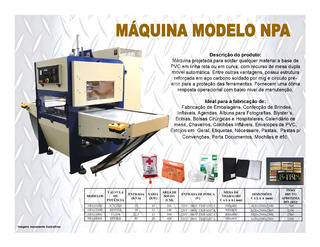 Solda Eletrônica Pvc Pasta Embalagem Álbum Agenda Npa10000
