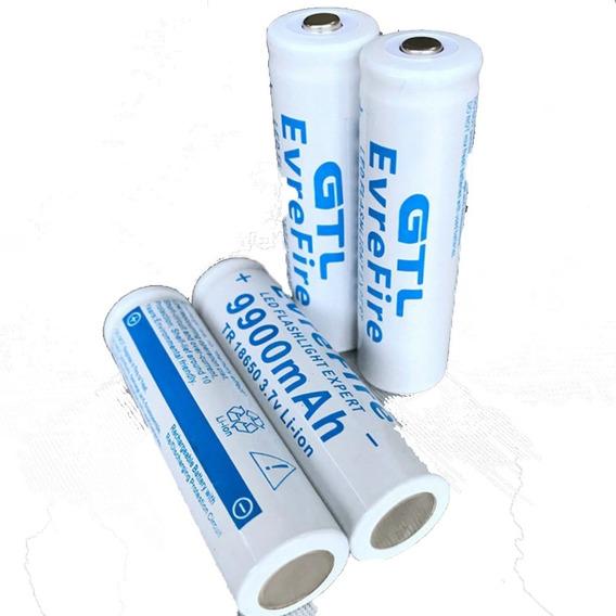Kit 2 Baterias Recarregável 9900 Mah Tr 18650 3.7v Li-ion